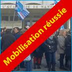 Succès de la mobilisation des personnels du rectorat de l'académie de Nancy-Metz !
