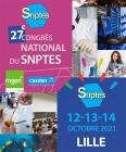 27e congrès national du SNPTES - 12, 13 et 14 octobre 2021 à Lille
